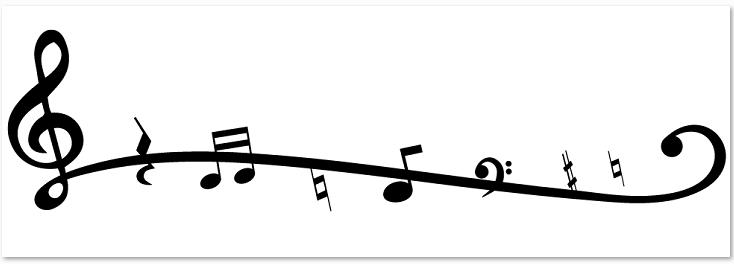 音符のイラストライン素材が無料 イラストボックス